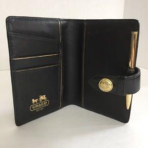 COACH Leather Agenda Day Planner Notebook Folder